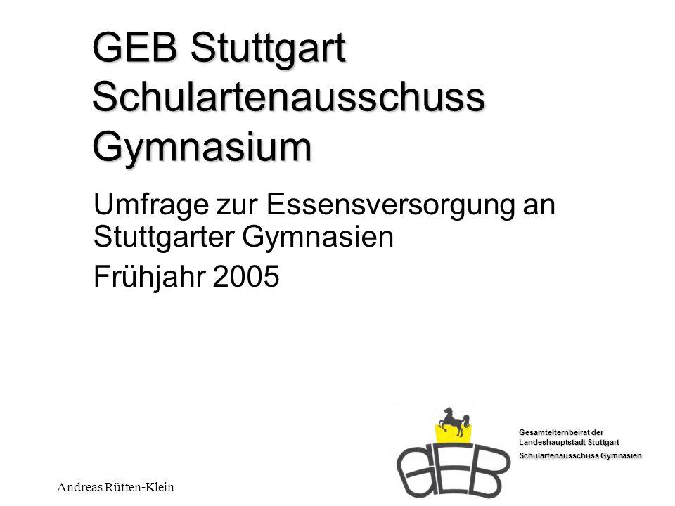 GEB Stuttgart Schulartenausschuss Gymnasium