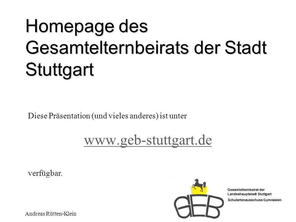 Homepage des Gesamtelternbeirats der Stadt Stuttgart