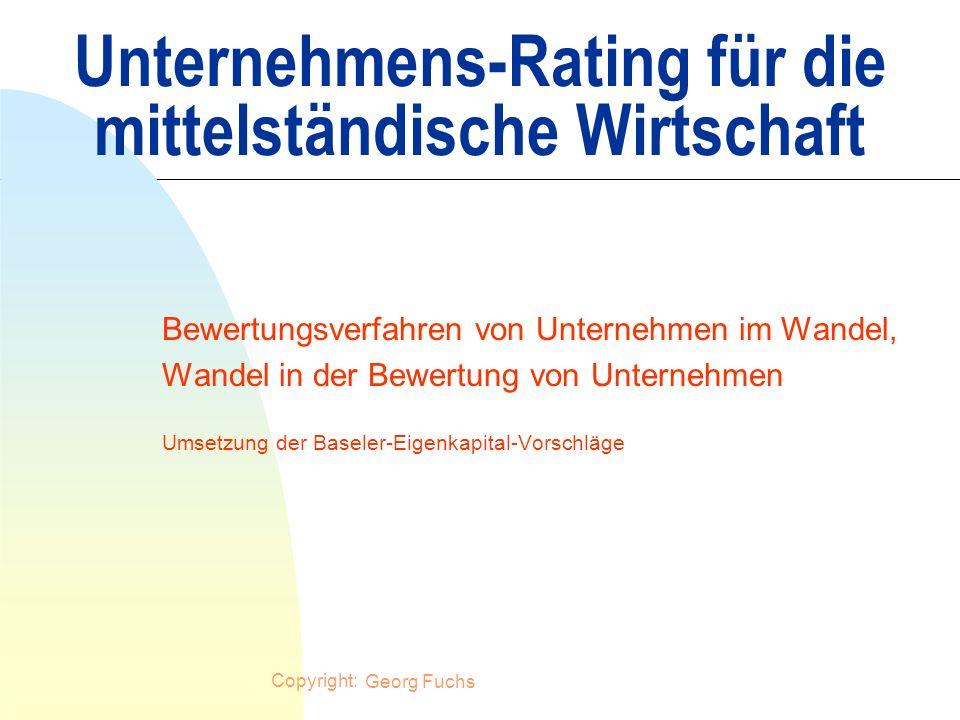 Unternehmens-Rating für die mittelständische Wirtschaft