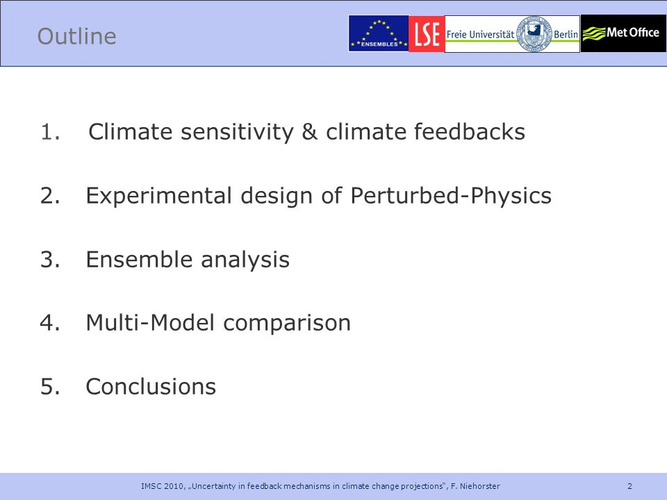Climate sensitivity & climate feedbacks