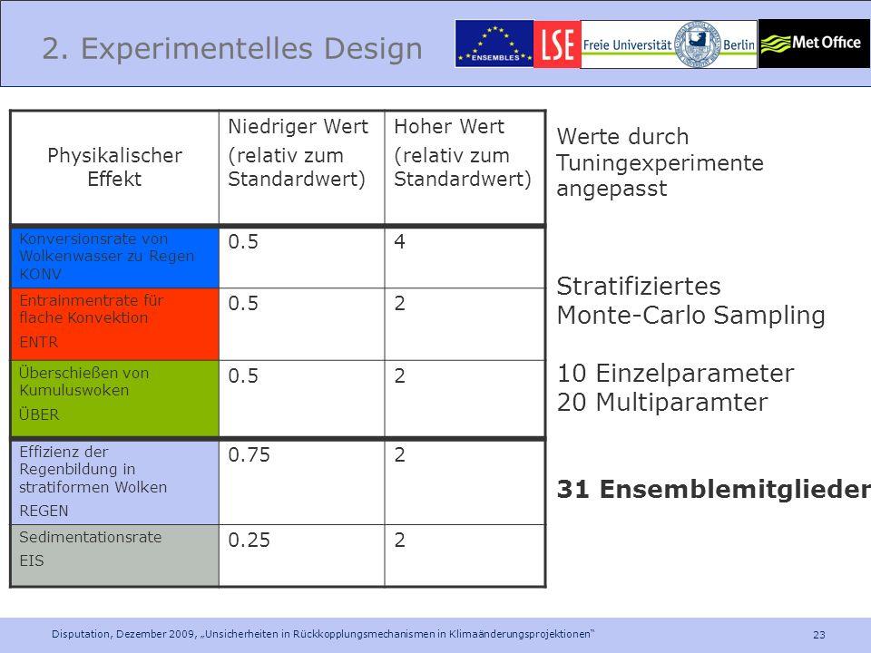 2. Experimentelles Design