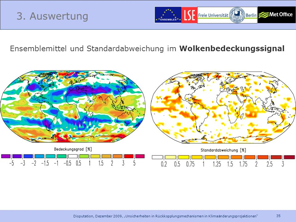3. Auswertung Ensemblemittel und Standardabweichung im Wolkenbedeckungssignal.