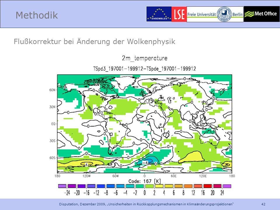 Methodik Flußkorrektur bei Änderung der Wolkenphysik
