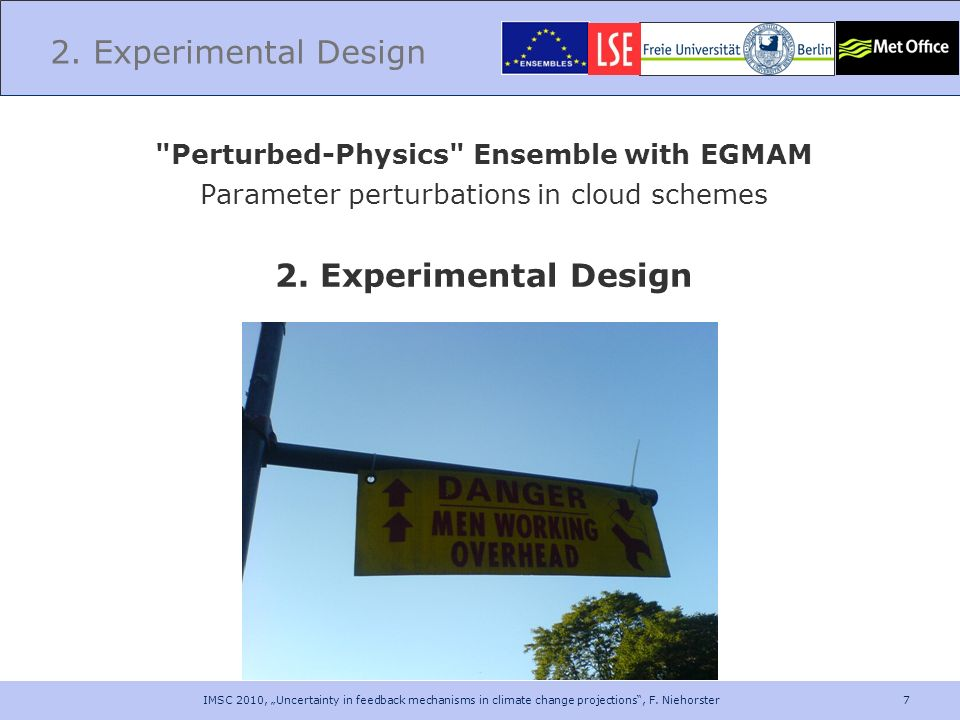 Perturbed-Physics Ensemble with EGMAM
