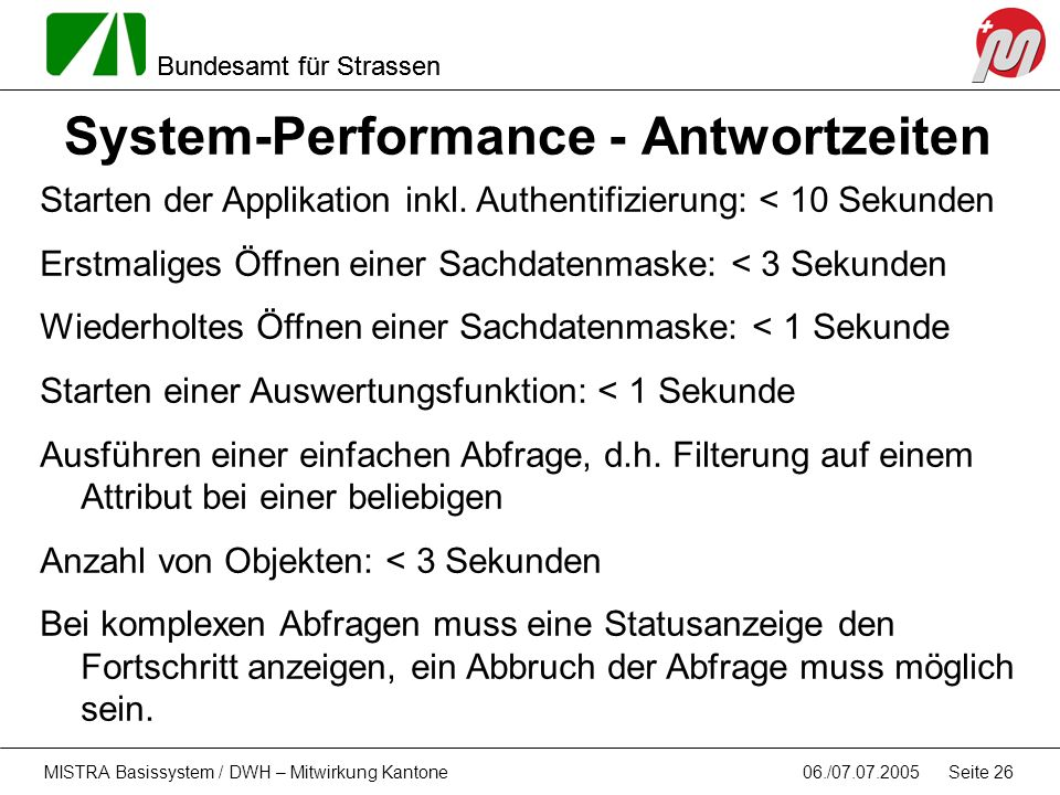 System-Performance - Antwortzeiten