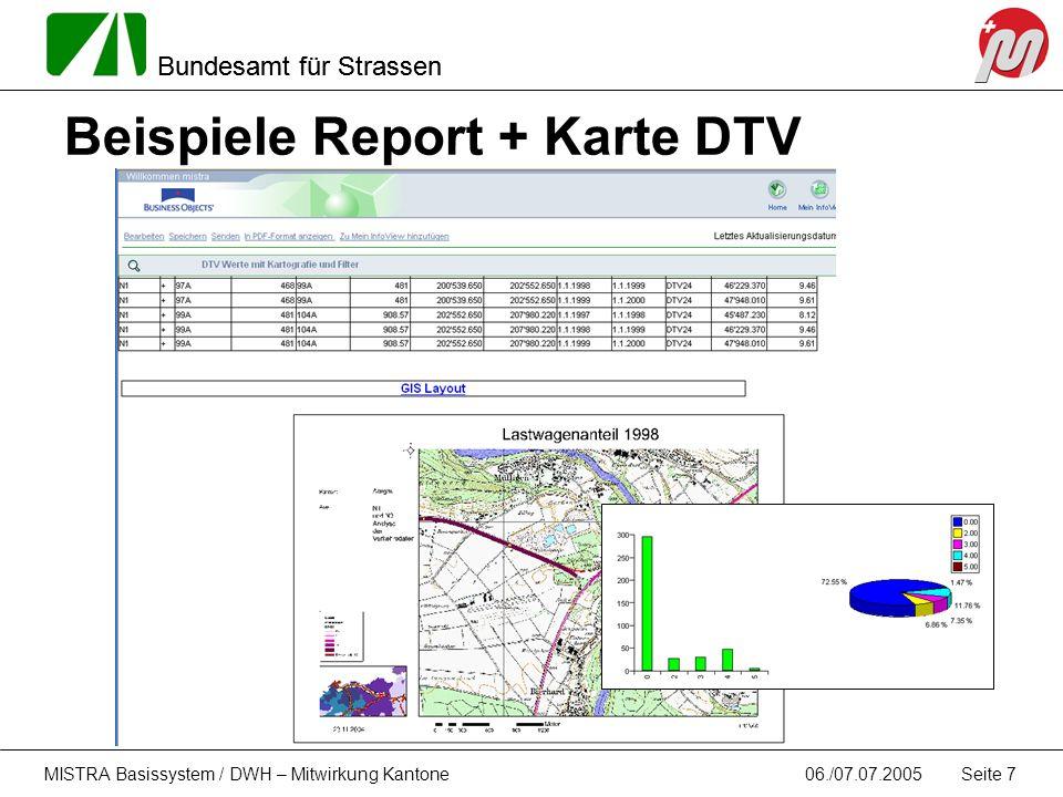 Beispiele Report + Karte DTV