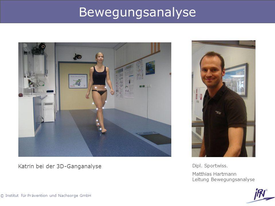Bewegungsanalyse Katrin bei der 3D-Ganganalyse Dipl. Sportwiss.