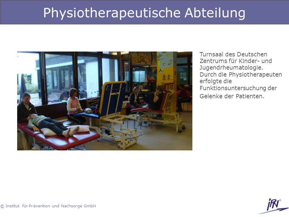 Physiotherapeutische Abteilung