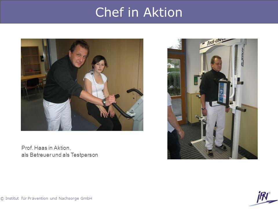 Chef in Aktion Prof. Haas in Aktion, als Betreuer und als Testperson
