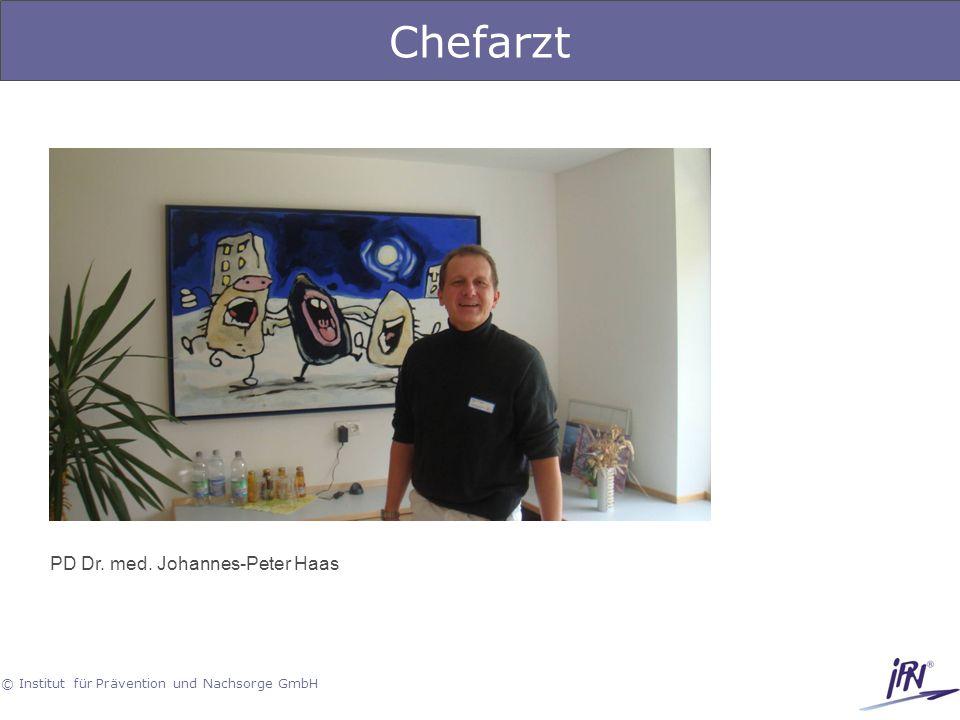 Chefarzt PD Dr. med. Johannes-Peter Haas