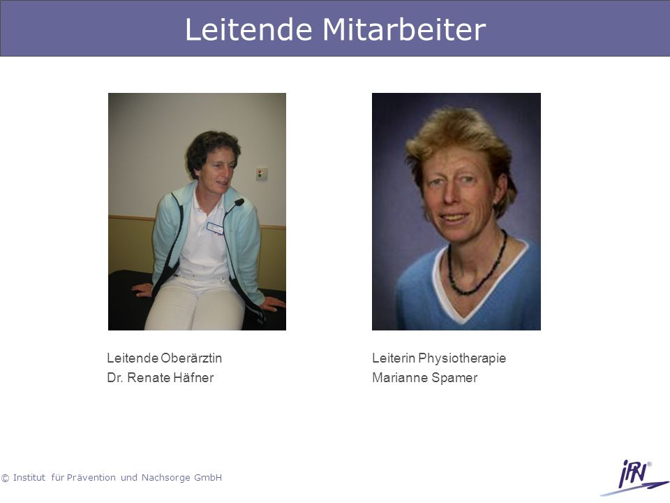 Leitende Mitarbeiter Leitende Oberärztin Dr. Renate Häfner