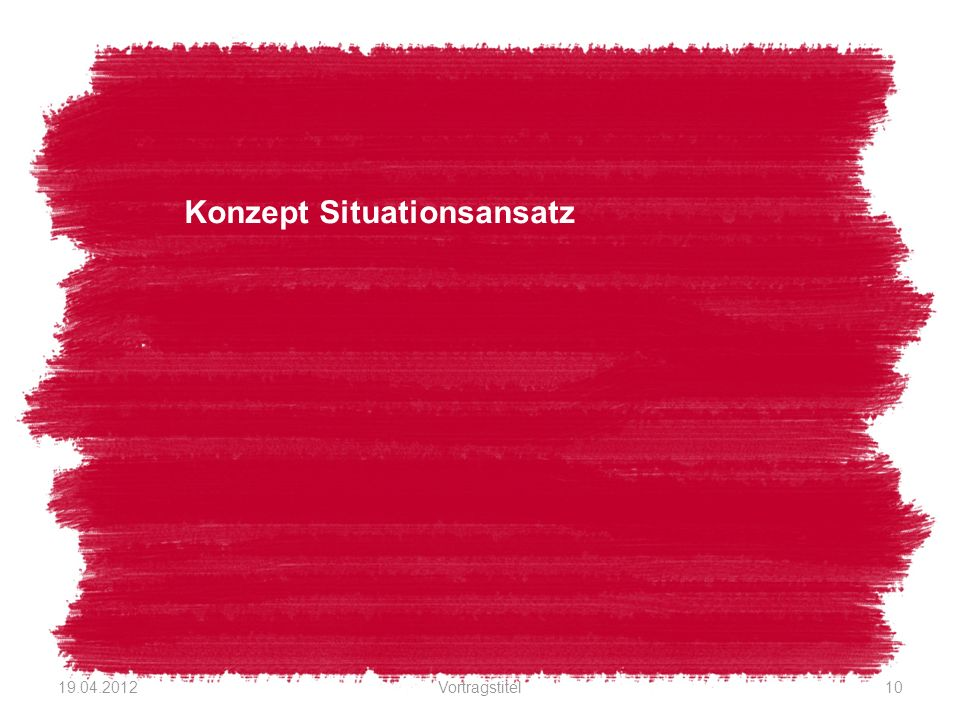 Konzept Situationsansatz