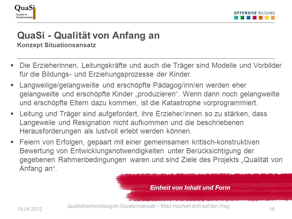 QuaSi - Qualität von Anfang an