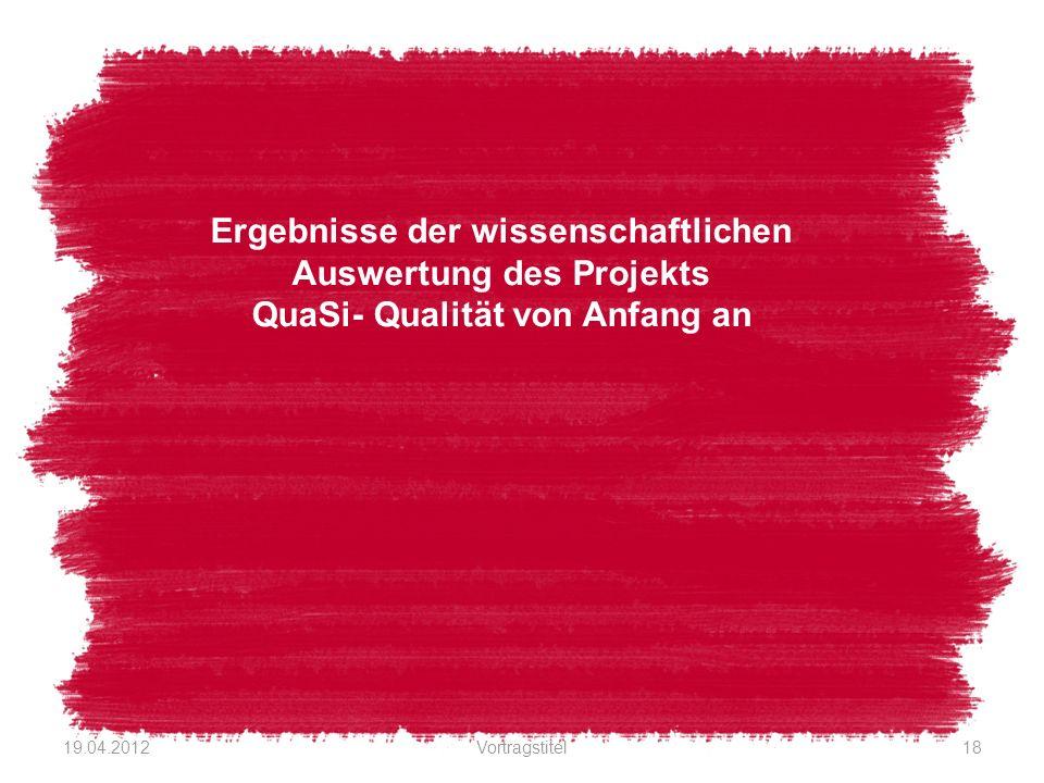 Ergebnisse der wissenschaftlichen Auswertung des Projekts