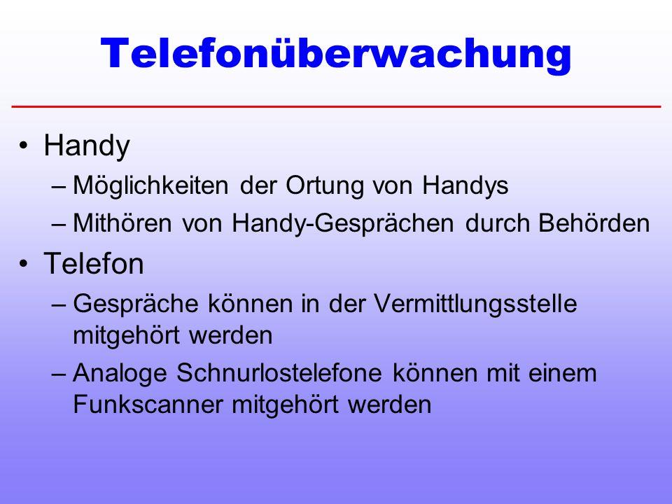 Telefonüberwachung Handy Telefon Möglichkeiten der Ortung von Handys
