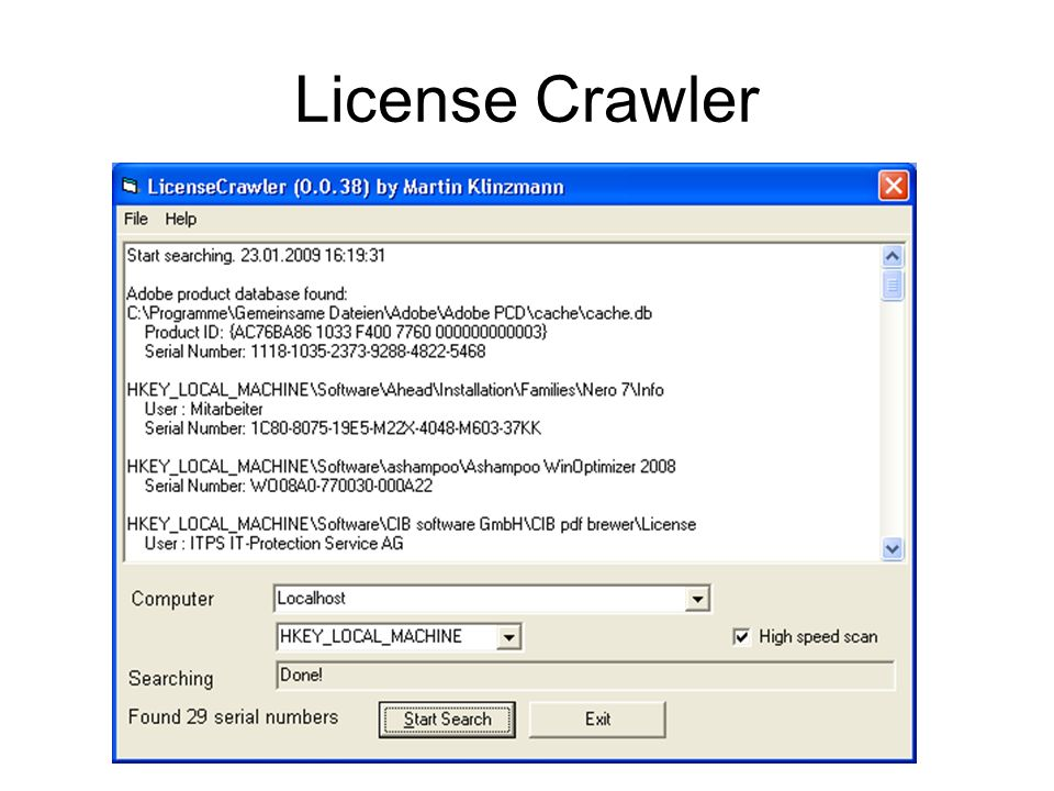 License Crawler