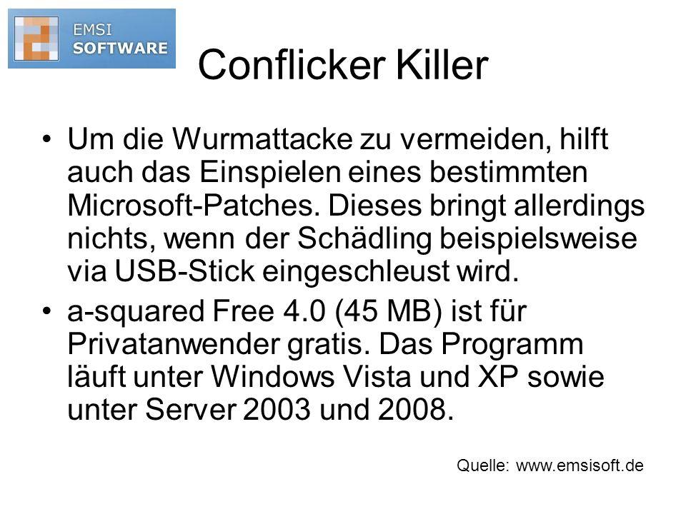 Conflicker Killer