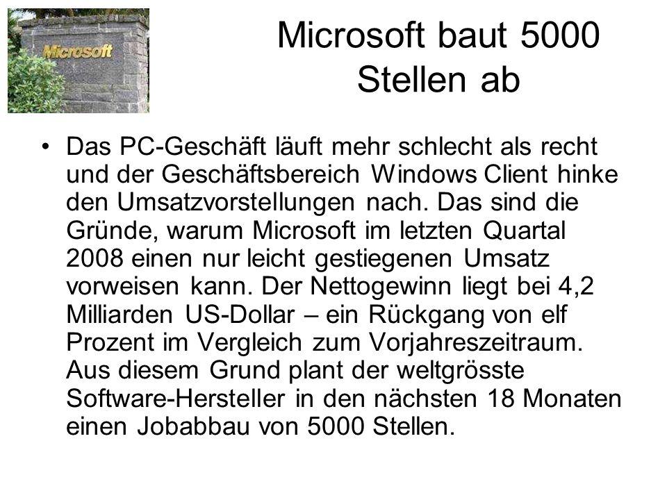 Microsoft baut 5000 Stellen ab