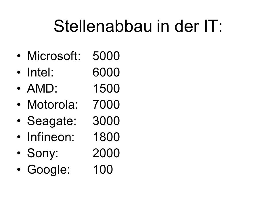 Stellenabbau in der IT: