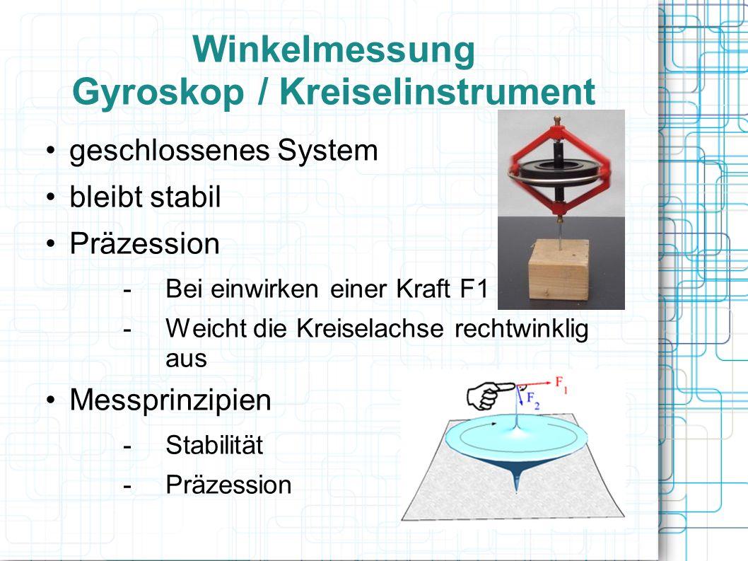 Winkelmessung Gyroskop / Kreiselinstrument
