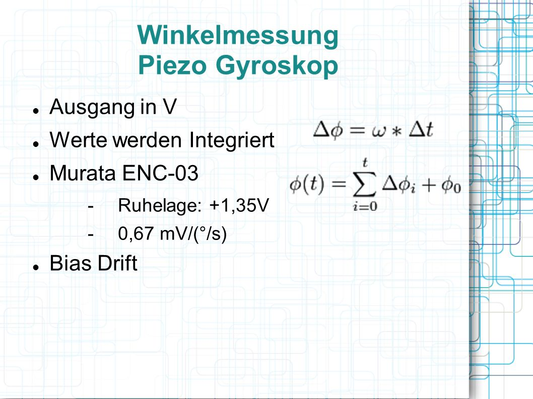 Winkelmessung Piezo Gyroskop