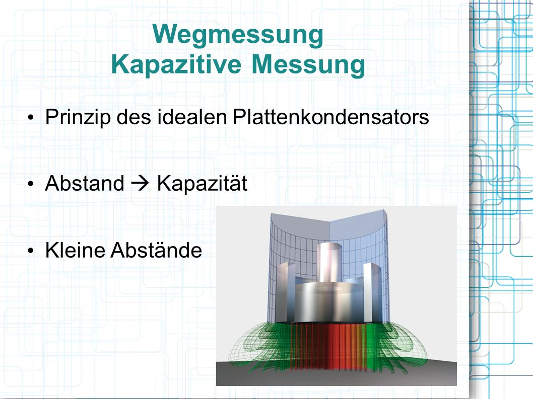 Wegmessung Kapazitive Messung