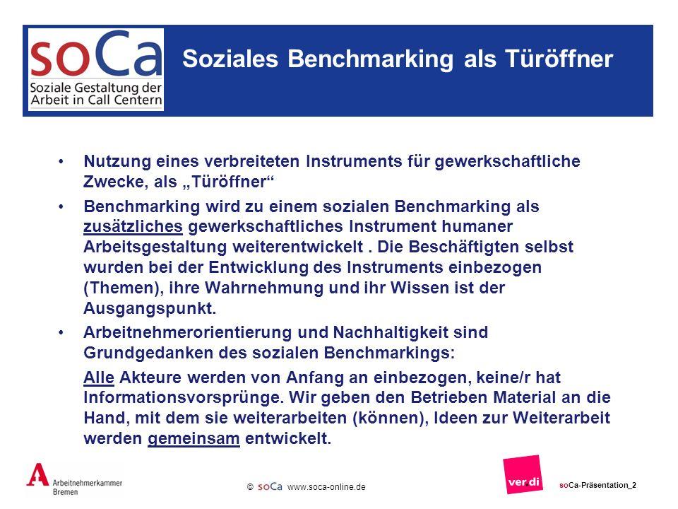 Soziales Benchmarking als Türöffner