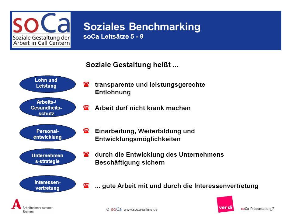Soziales Benchmarking soCa Leitsätze 5 - 9