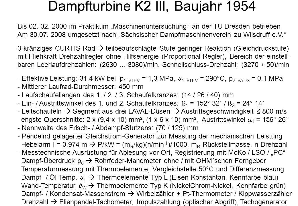 Dampfturbine K2 III, Baujahr 1954