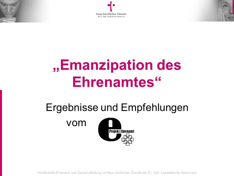 """""""Emanzipation des Ehrenamtes"""