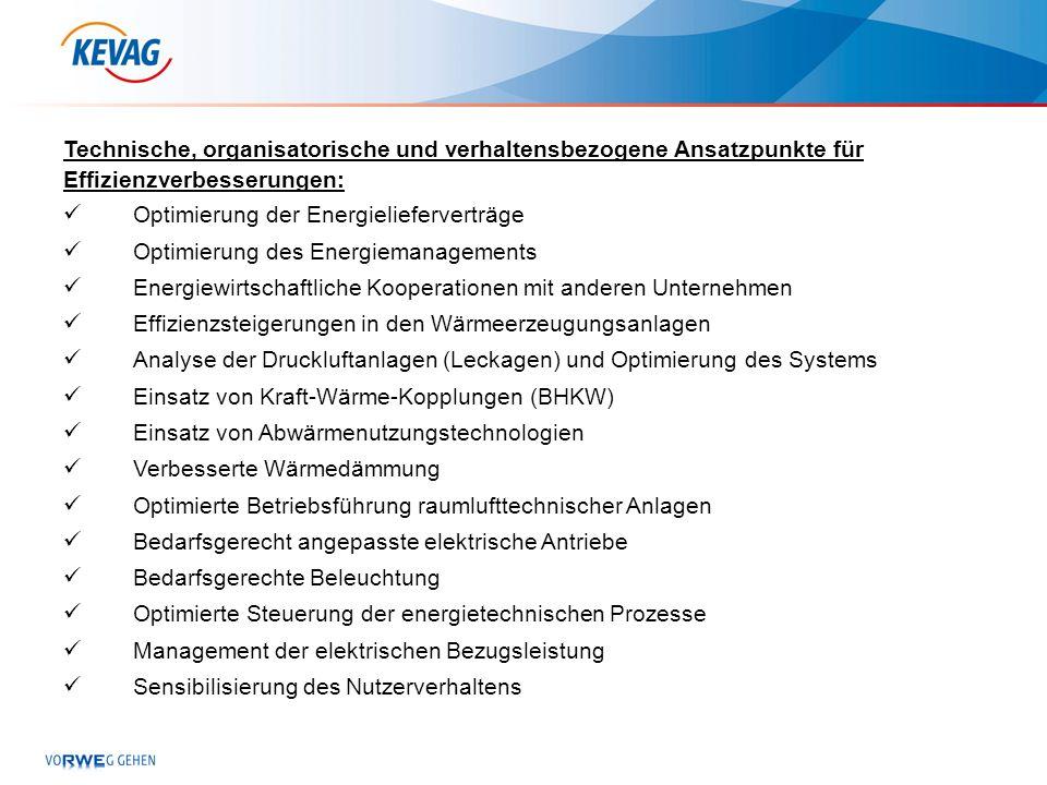 Technische, organisatorische und verhaltensbezogene Ansatzpunkte für