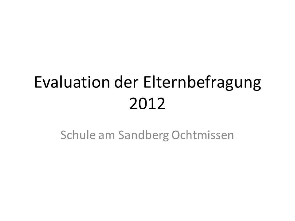 Evaluation der Elternbefragung 2012