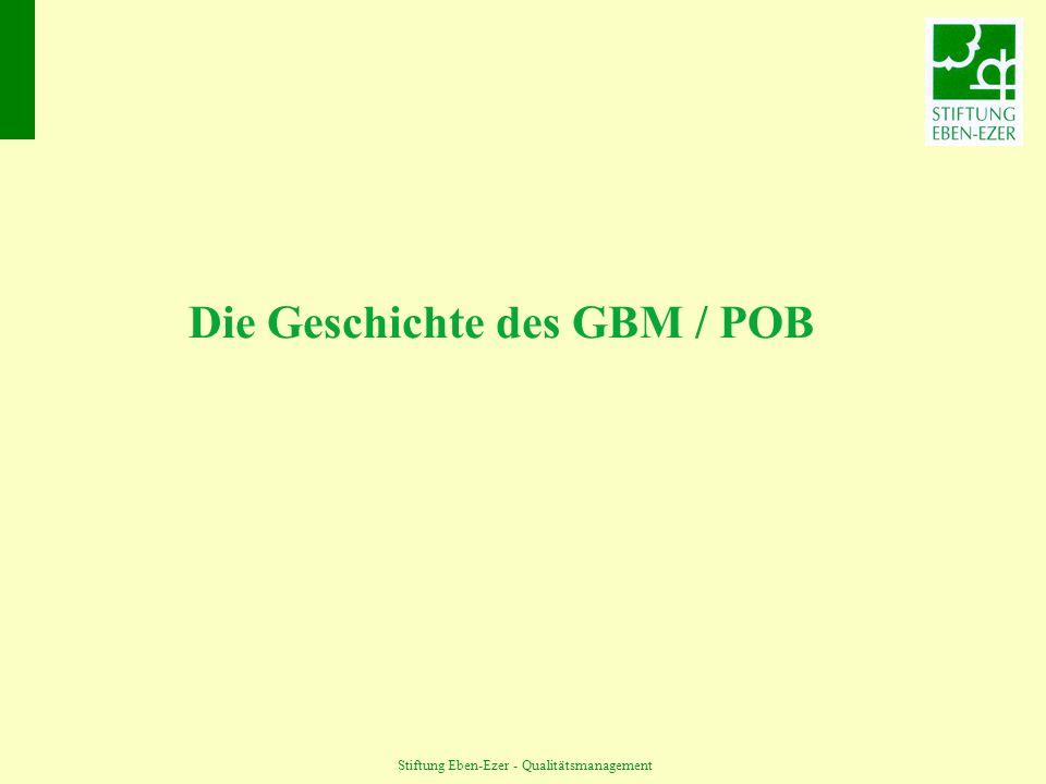 Die Geschichte des GBM / POB
