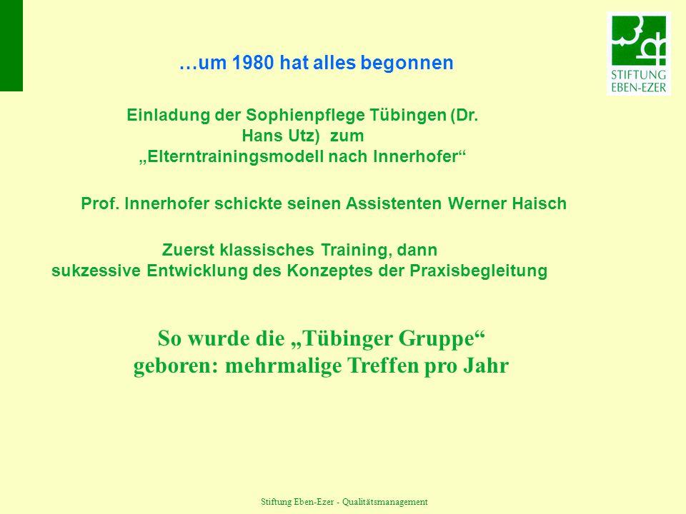 """So wurde die """"Tübinger Gruppe geboren: mehrmalige Treffen pro Jahr"""