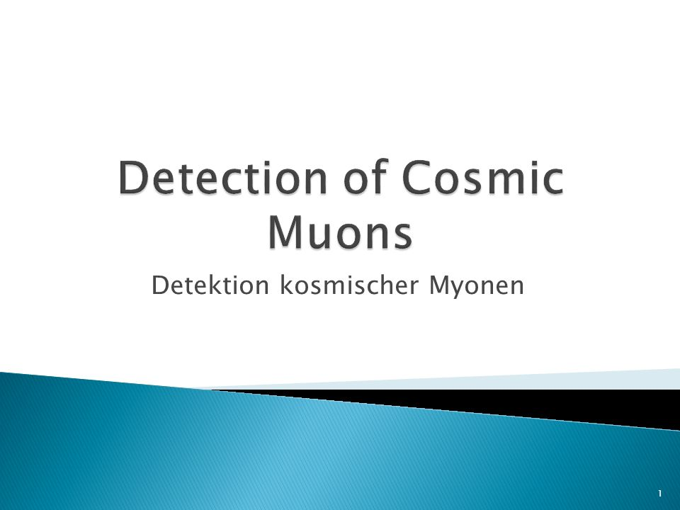 Detection of Cosmic Muons