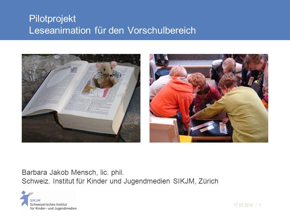 Pilotprojekt Leseanimation für den Vorschulbereich