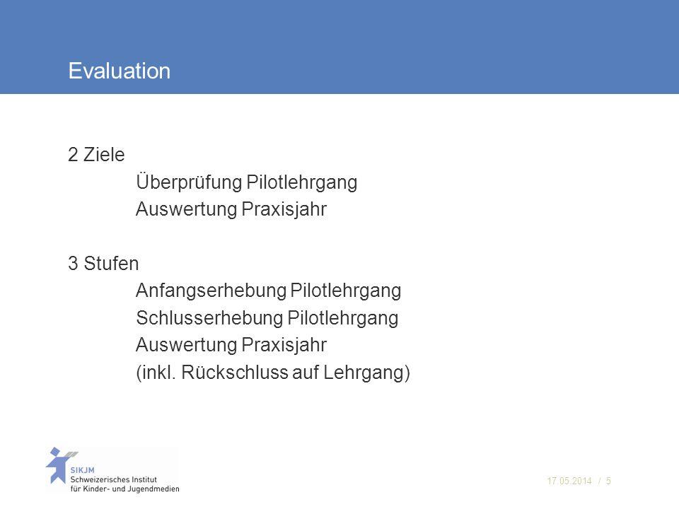 Evaluation 2 Ziele Überprüfung Pilotlehrgang Auswertung Praxisjahr