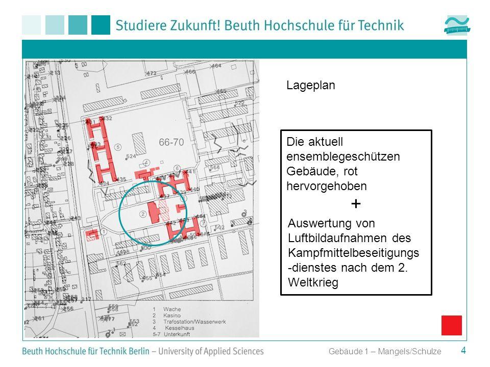 + Lageplan Die aktuell ensemblegeschützen Gebäude, rot hervorgehoben