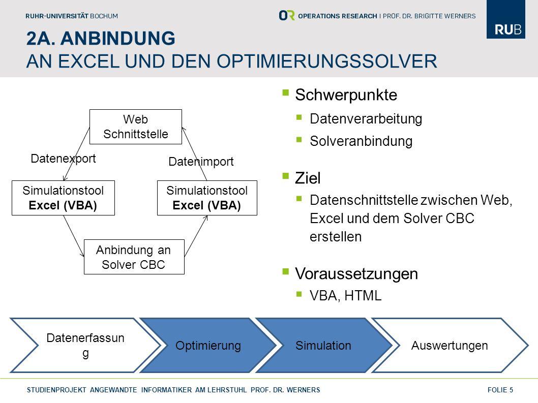 2a. Anbindung an Excel und den OptimierunGssolver