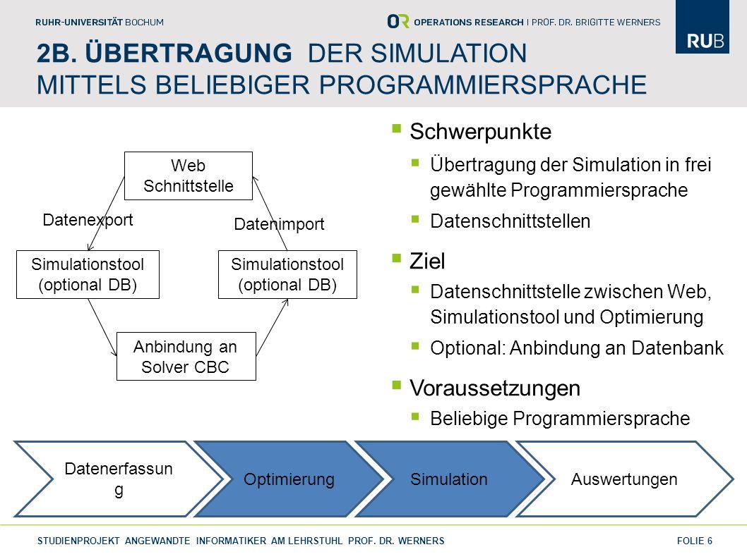 2B. Übertragung der Simulation Mittels Beliebiger Programmiersprache