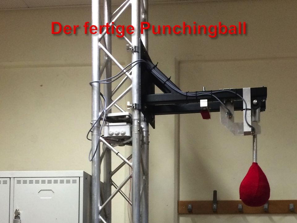 Der fertige Punchingball