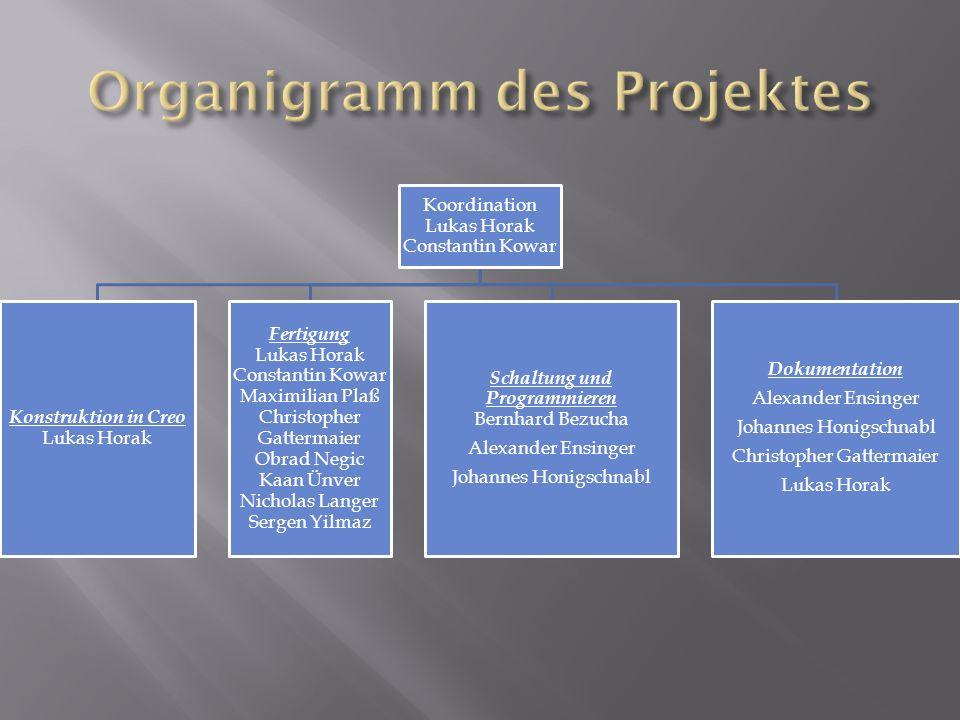 Organigramm des Projektes