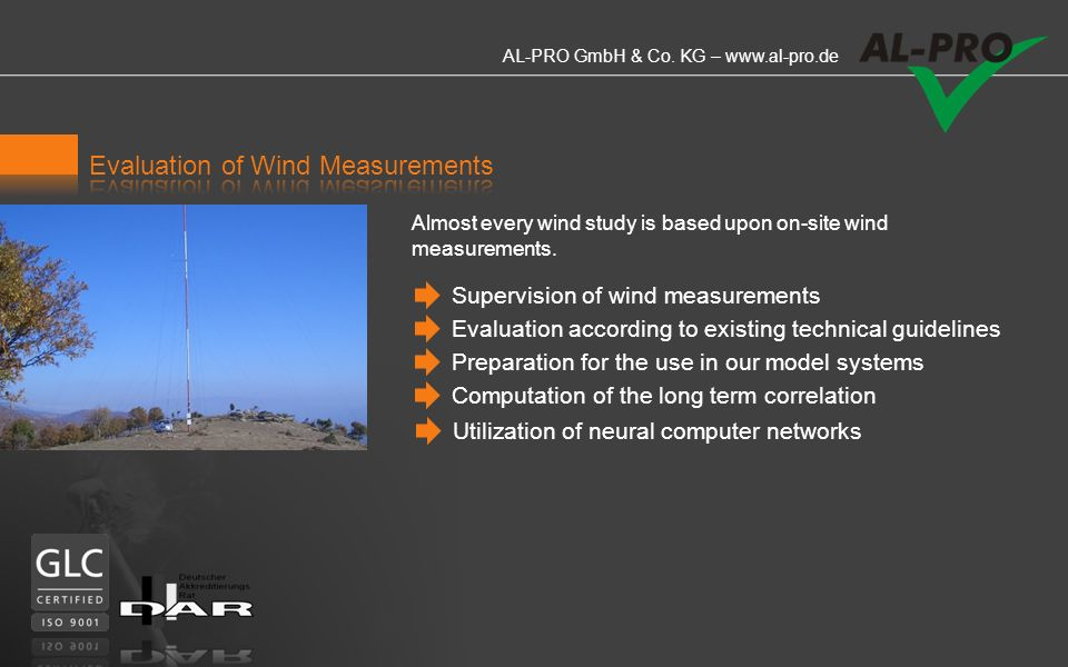 Evaluation of Wind Measurements