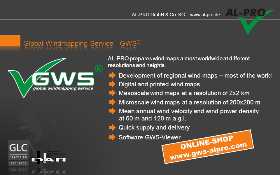 Global Windmapping Service - GWS®