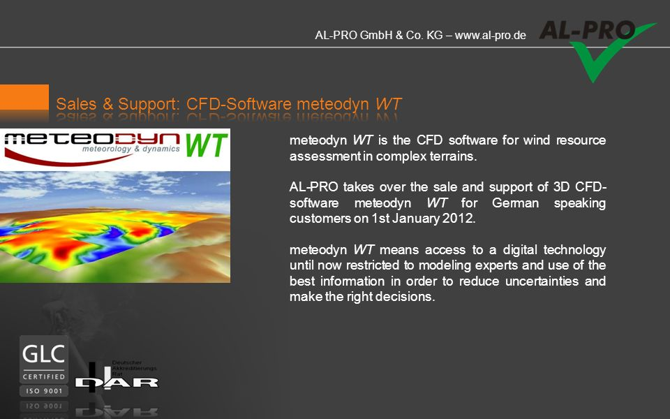 Sales & Support: CFD-Software meteodyn WT