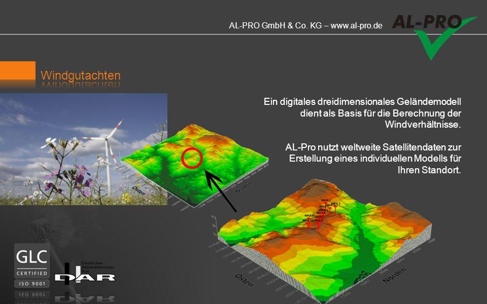 Windgutachten Ein digitales dreidimensionales Geländemodell dient als Basis für die Berechnung der Windverhältnisse.