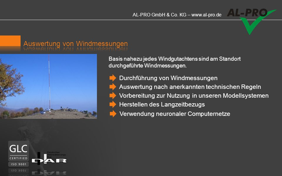 Auswertung von Windmessungen