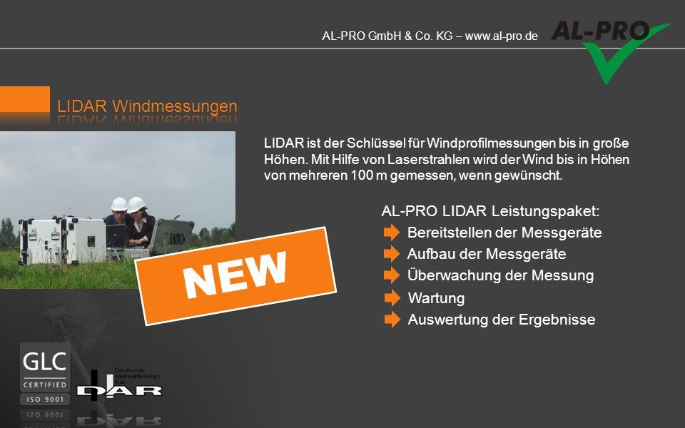 NEW LIDAR Windmessungen AL-PRO LIDAR Leistungspaket: