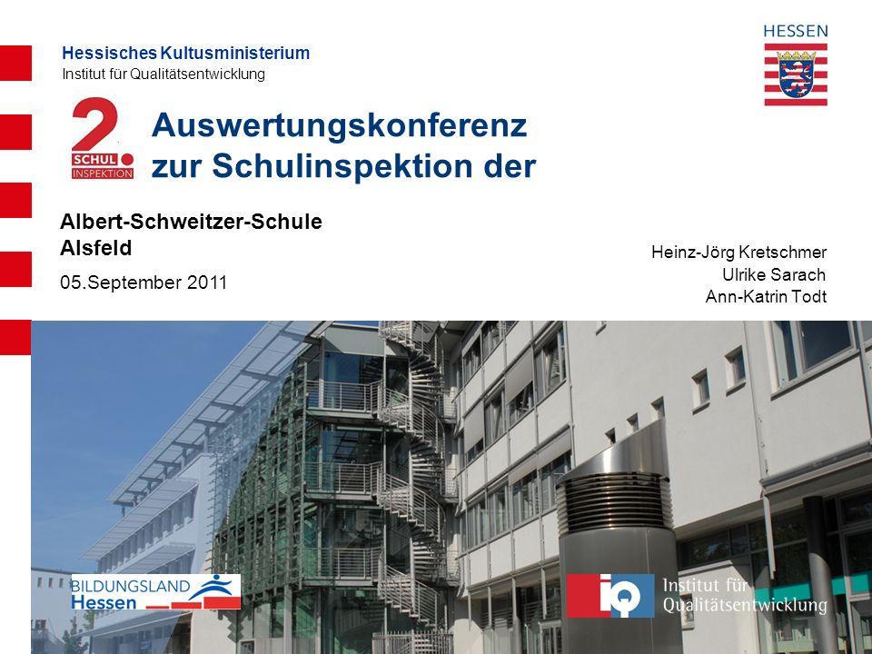 Auswertungskonferenz zur Schulinspektion der