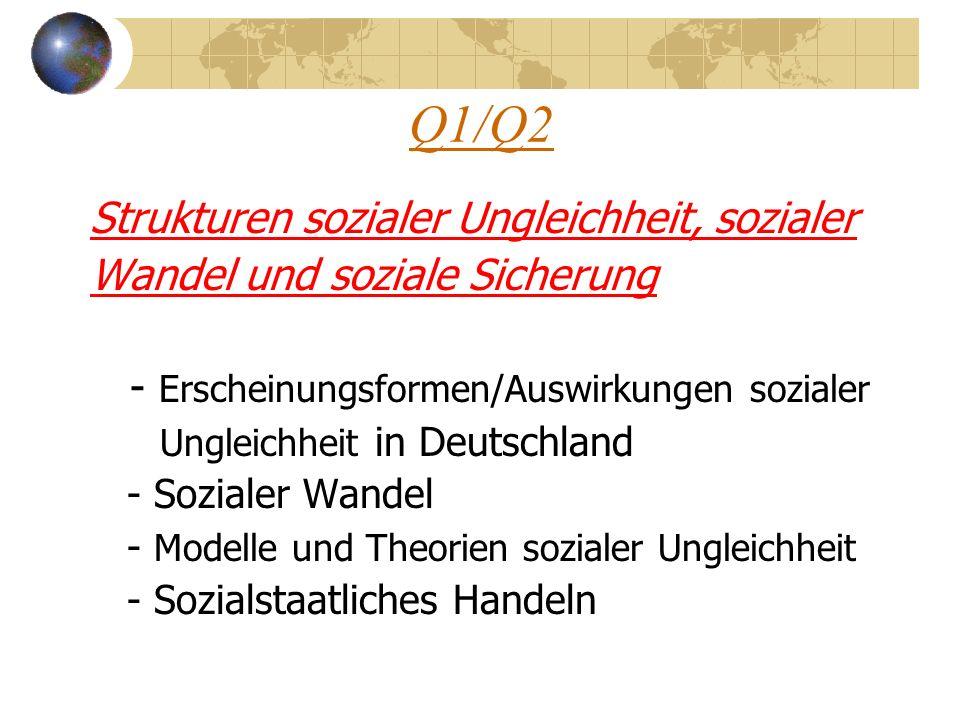 Q1/Q2 Strukturen sozialer Ungleichheit, sozialer
